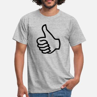 Thumbs Pointing At Me thumbs up - Men's T-Shirt