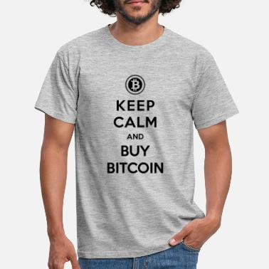 Hold ro og køb Bitcoin Cryptocurrency Blockchain - T-shirt mænd