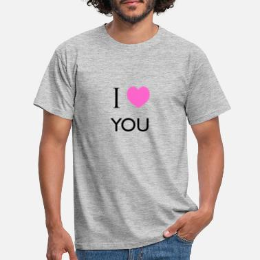 I love you pink heart - Men's T-Shirt
