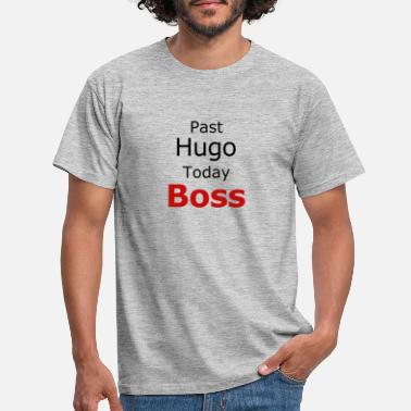 Past Hugo Today Boss rot - Männer T-Shirt