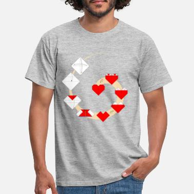 Fold Folding origami heart - How to fold a heart - Men's T-Shirt