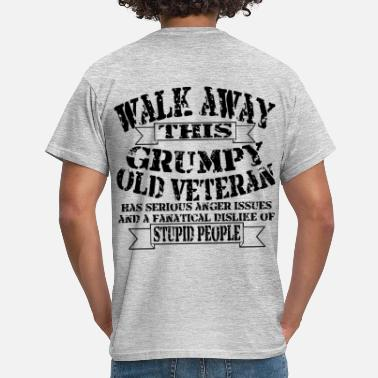 Veteran Grumpy Old Veteran - Men's T-Shirt