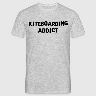 kiteboarding addict - T-skjorte for menn
