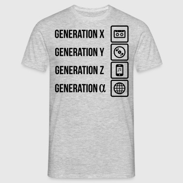 Generationen Kassette MP3 Player Web - Männer T-Shirt