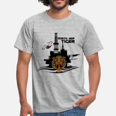North North Sea Tiger Oil Rig Platform Aberdeen - Men's T-Shirt