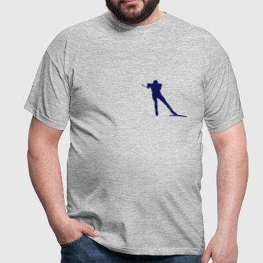 cross country skiing - skiing - ski - Men's T-Shirt