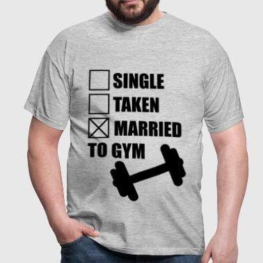 Married to gym :  funny Gym Body building Fitness  - Maglietta da uomo