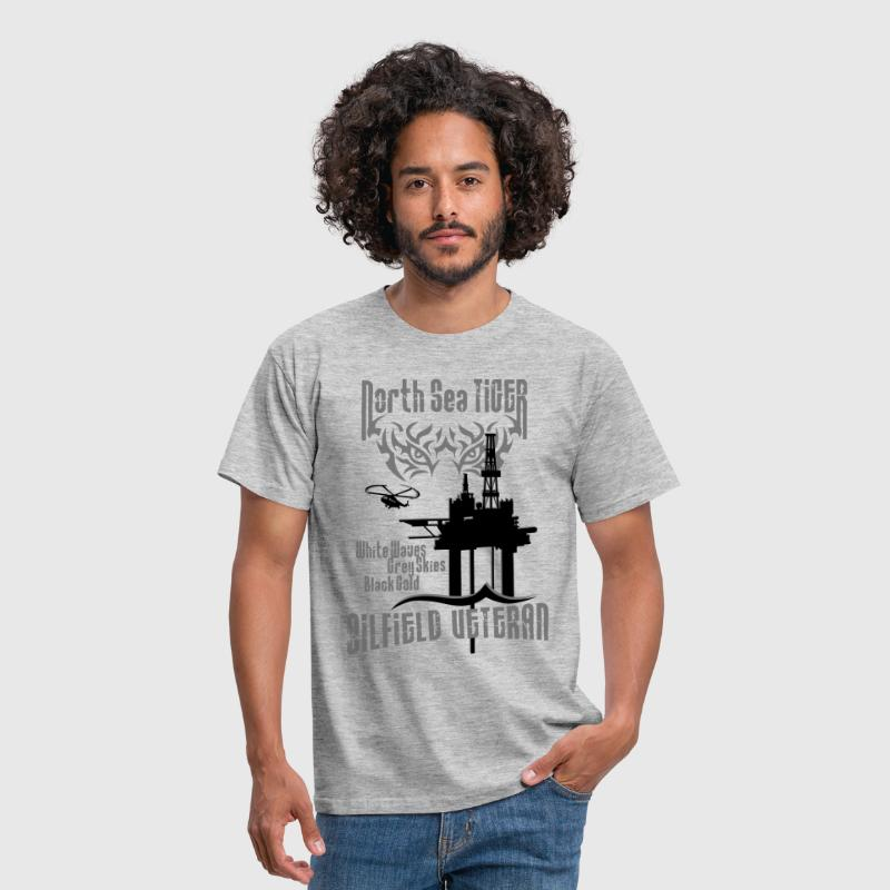 North Sea Oil Rig Oil Field Veteran - Men's T-Shirt