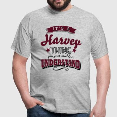 its a harvey name surname thing - Men's T-Shirt