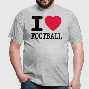 i love football / I heart football  2c - Männer T-Shirt