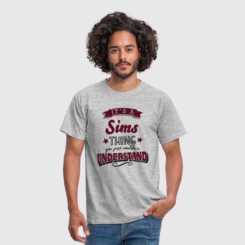 its a sims name surname thing - Men's T-Shirt