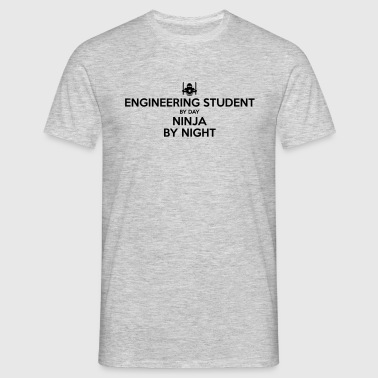 engineering student day ninja by night - Men's T-Shirt