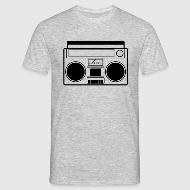 Boombox, Ghetto Blaster, Tape - Männer T-Shirt