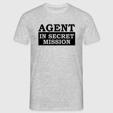 Agent in Secret Mission - Männer T-Shirt