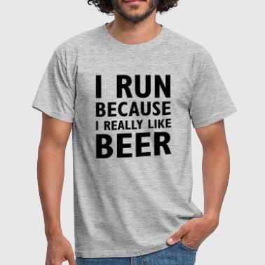 I really like beer - Männer T-Shirt