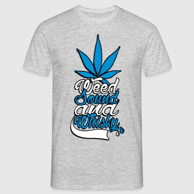 weed sound et whisky - T-shirt Homme