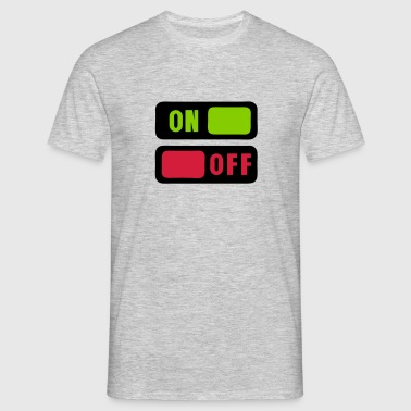 bouton on off 1 - T-shirt Homme