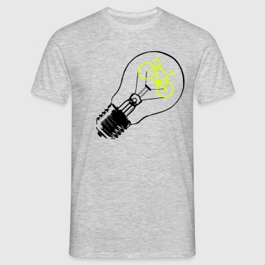 Bulb / Bike - Mannen T-shirt