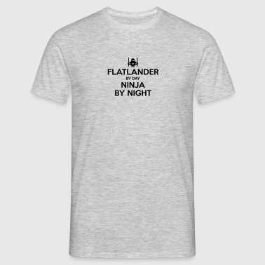 flatlander day ninja by night - Men's T-Shirt