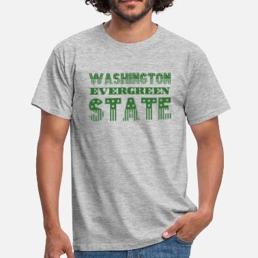 Evergreen WASHINGTON EVERGREEN STATE - T-shirt Homme
