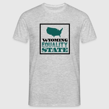 WYOMING EQUALITY STATE - T-shirt Homme