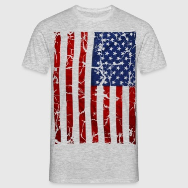 US flag vintage stars and stripes white shirt - Männer T-Shirt