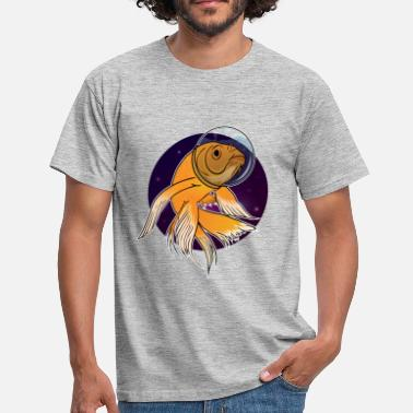 Fish in Space - T-shirt herr