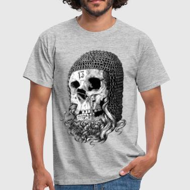 Crusader Kings templar skull - Men's T-Shirt
