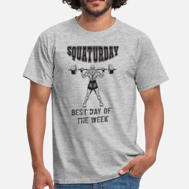 Grass Squaturday Cool Squat All Day Design - Men's T-Shirt