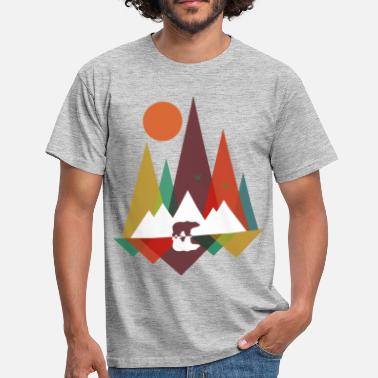 Mountain Bear Bear in the mountains - Men's T-Shirt
