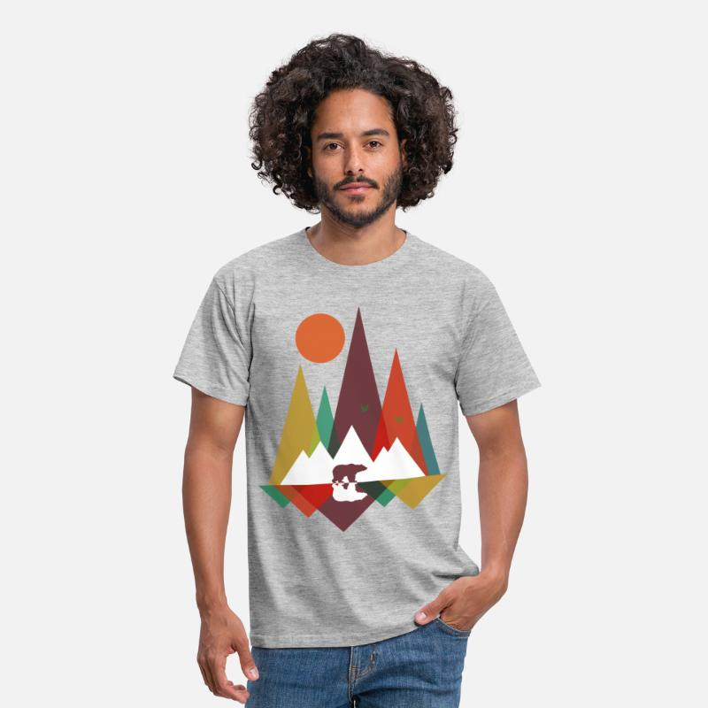 Bear T-Shirts - Bear in the mountains - Men's T-Shirt heather grey