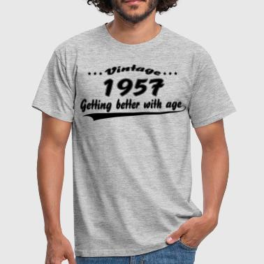59th Birthday Gift Vintage 1957 Vintage 1957 Getting Better With Age - Men's T-Shirt