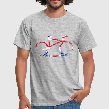 Gb GB Cycling Chain Print  - Men's T-Shirt
