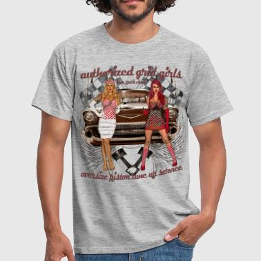 Pinups Authorized girls Chevy hot Rod Oldtimer USA - Männer T-Shirt