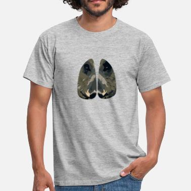 Animal Tracks Boar face eyes hoof track track animal - Men's T-Shirt
