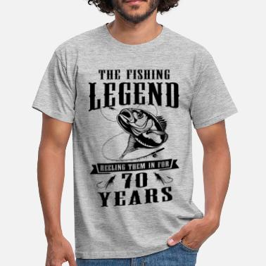 Reel Life The Fishing Legend Reeling Them In For 70 Years - Men's T-Shirt