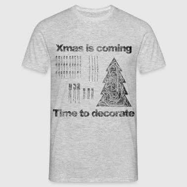 xmas is coming - Mannen T-shirt