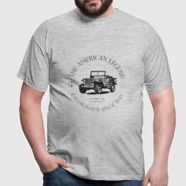 JEEP WILLYS AMERICAN CAR - T-shirt Homme