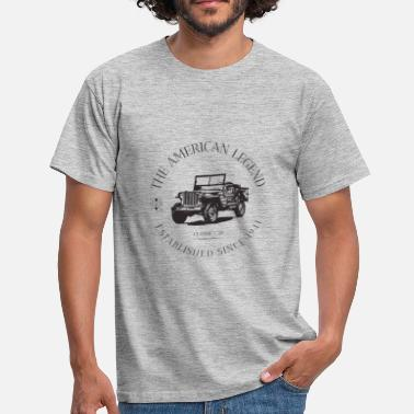 Willys JEEP WILLYS AMERICAN CAR - T-shirt Homme
