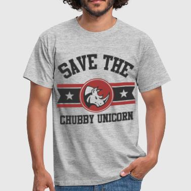 Unicorns Save The Chubby Unicorn - Men's T-Shirt