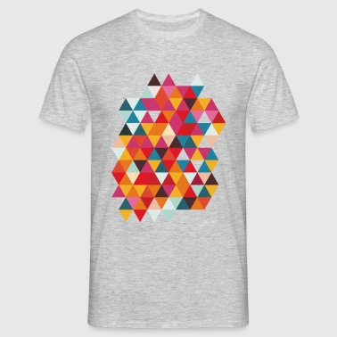 Motif graphique de Triangles, Hipster, Geometry - T-shirt Homme