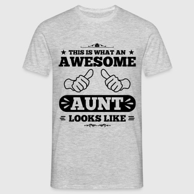 awesome aunt looks like - Männer T-Shirt