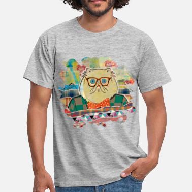 384e84ab Hipster cat mixed media digital art collage - Men' ...