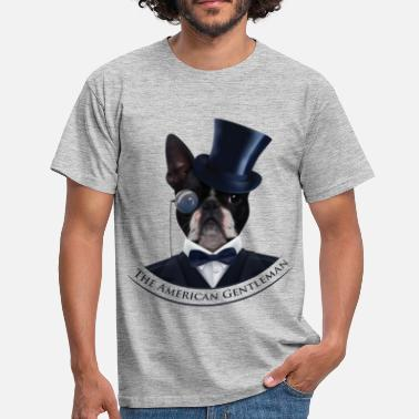 Boston Boston Terrier  - The American Gentleman - Men's T-Shirt