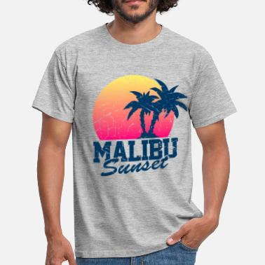 Palm Tree Sunset Malibu vintage worn - Men's T-Shirt