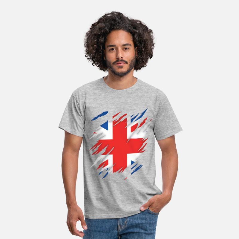 British T-Shirts - Torn UK - Men's T-Shirt heather grey
