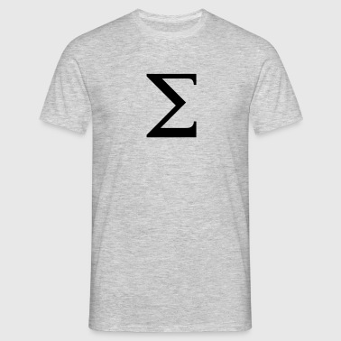 Sigma greek alphabet - Herre-T-shirt