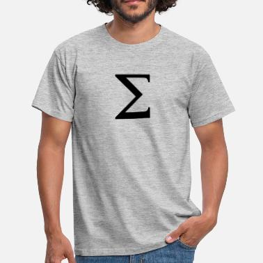 Sigma Sigma greek alphabet - Männer T-Shirt