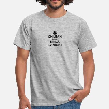 Chilean chilean day ninja by night - Men's T-Shirt