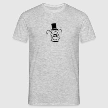 ground hole sir gentleman gentleman mustache musta - Men's T-Shirt